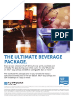 Ultimate Beverage Package Flyer