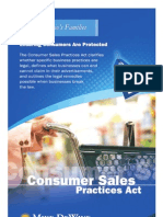 Consumer Sales Practices Act