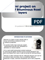 A mini project on Bituminous Road layers