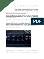 Que Son y Para Que Sirven Todos Los Controles HPF y LPF en Mi Amplificador