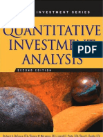 Quantitative Methods for Inestment Analysis