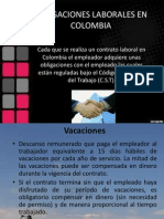 Obligaciones Laborales en Colombia