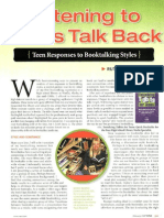 os1-listening to teens talk back -- teen responses to booktalking styles