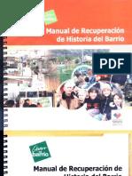 Manual de Recuperación de Historia del Barrio