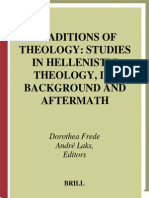 Studies in Hellenistic Theology, Its Background & Aftermath - Dorothea Frede & Andre Laks (Brill)