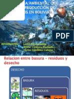 Problemática Ambiental Que Genera La Producción de Desechos en Bolivia