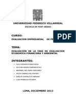 Evaluacion Dela Fase de Evaluacion Economica , Financiera y Ambiental