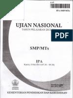 Naskah Soal UN IPA SMP Th 2014 Paket 02