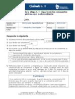 Actividad Integradora, Etapa 4. El Impacto de Los Compuestos Orgánicos en El Medio Ambiente
