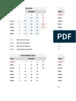KALENDER AKADEMIK DINAS PENDIDIKAN TAHUN PELAJARAN 2014/2015