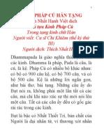 Kinh Pháp Cú Hán Tạng - Thích Nhất Hạnh