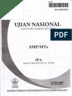 Naskah Soal UN IPA SMPTh 2014 Paket 03