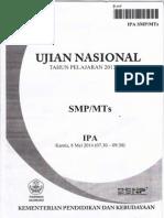 Naskah Soal UN IPA SMPTh 2014 Paket 05