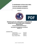 Documento de Arquitectura SoftWare