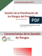 Gestión de La Planificación de Los Riesgos Del Proyecto - Tema 01