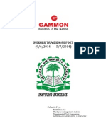 Summer Intrenship at Gammon India Ltd.