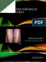 Dermatosis Purpúricas Pigmentadas