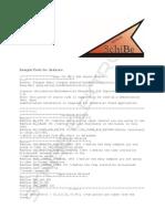Sample Code for Arduino