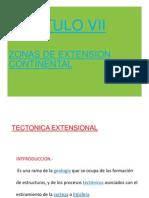 CAP. VII .- Zonas de Extension Continental