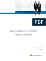 Microsoft Dynamics Ax 2012 - Product Overview