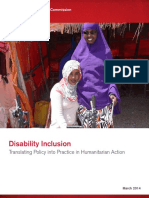 Disability Inclusion Translating Policy Into Practice in Humanitarian Action
