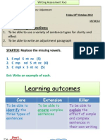 Yr 8 7.3 Adjustment and Sentence Structure