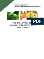 Phil MRLs for Mango