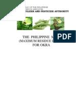Phil MRLs for Okra