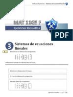 3 Sistemas de Ecuaciones Lineales