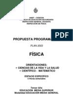 PROGRAMA OFICIAL PLAN 2003