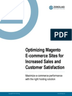 Optimizing Magento E-Commerce Sites for Increased Sales and Customer satisfaction