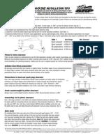 Fitting instructions for pistonrings