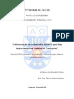 Calibración Microsimulador AIMSUN Para Flujo Ininterrumpido Para La Ciudad de Concepción