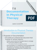 Documentation in Physical Therapy