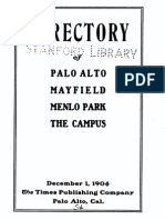 Directory of Palo Alto, Mayfield, Menlo Park, The Campus (1904)