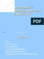 New Product Development and Test Marketing