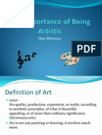 The Importance of Being Artistic