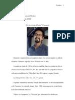 Entrevista a Alfredo Velasquez