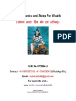Lord Shiva Sadhana for Wealth
