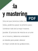 Mescla y Masterizacion - Capitulo 8