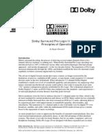 Dolby Surround Pro Logic Operation