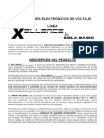 Informacion General Reguladores Xellence