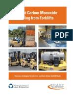 Prevent Co Poison during Forklift operation
