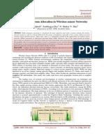 Dynamic Spectrum Allocation in Wireless sensor Networks