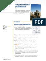 3 3 Investigate Properties of Quadrilaterals