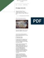 Arsgravis – Arte y Simbolismo – Universidad de Barcelona _ El Origen Del Arte