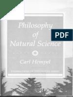 Carl Hempel- Philosophy of Natural Science