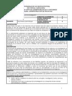 Metodología Investigación- Admon Negocios- Programa - 2009-1- 19feb2009