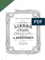 Rubinstein - Op.33 - 6 Songs