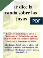 JOYAS Que Dice La Biblia Sobre Joyas